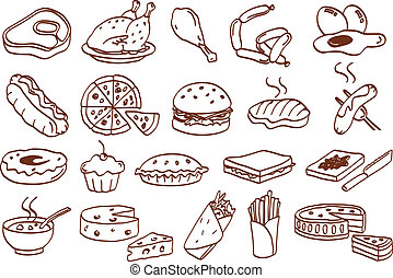 食物, 图标, 放置