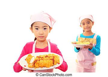 食物, 子供, 幸せ