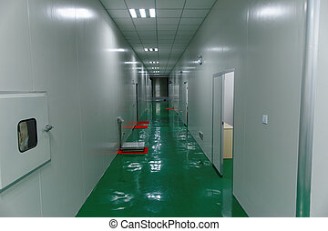 食物, 工場, きれいにしなさい, 廊下
