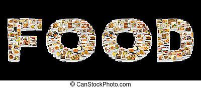 食物, 拼貼藝術, 詞