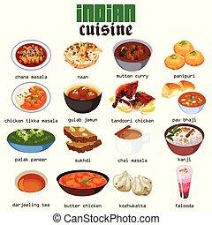 食物, 料理, indian, イラスト