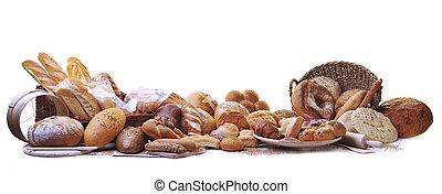 食物, 新たに, グループ, bread