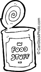 食物, 漫画, 缶