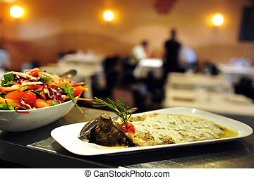 食物, 烹飪, -, 餐館