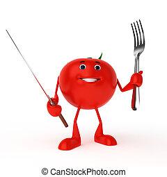 食物, 特徴, -, トマト