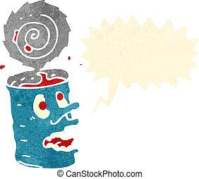 食物, 狂気, レトロ, 漫画, 缶