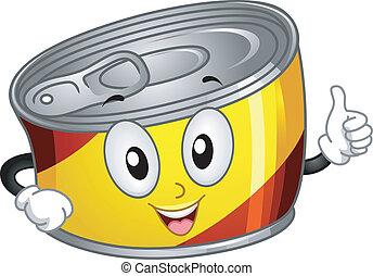 食物, 缶詰にされる, マスコット