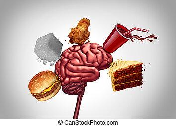 食物, 脳, がらくた, 健康