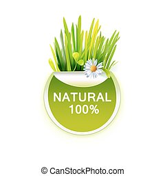 食物, 草, 自然, ラベル