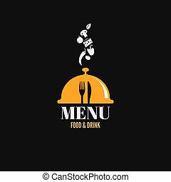 食物, 菜單, 飲料, 設計, 盤