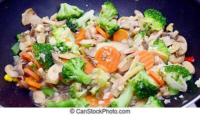 食物, 菜食主義者, 中華なべ