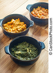 食物, 菜食主義者, indian, thali