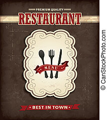 食物, 葡萄酒, 設計, 菜單, 海報