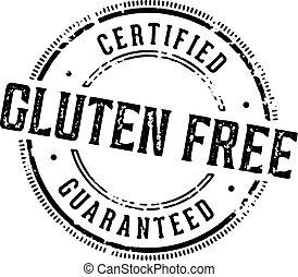 食物, 証明される, gluten, 無料で, 切手
