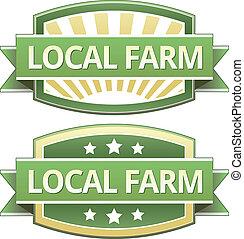 食物, 農場, 支部, ラベル