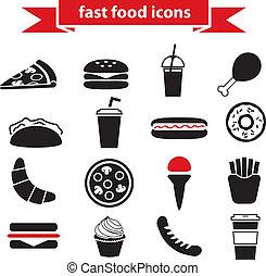食物, 速い, アイコン