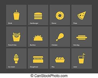 食物, 速い, icons.