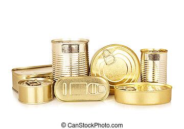 食物, 金, ブリキ缶, 各種組み合わせ