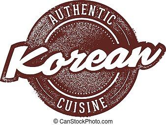 食物, 韓国語, 正しい, レストラン