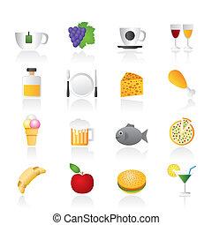 食物, 飲料, 以及, 飲料, 圖象