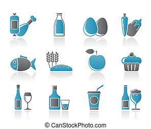 食物, 飲料, 以及, aliments, 圖象
