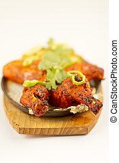 食物, 鶏, indian, tandori