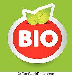 食物, bio, ベクトル, ラベル