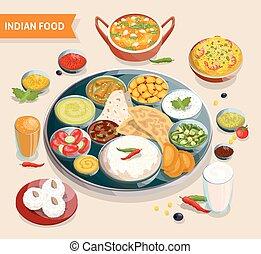 食物, indian, 構成