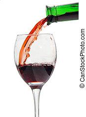 飲みなさい, ワイン, アルコール, びん, 赤