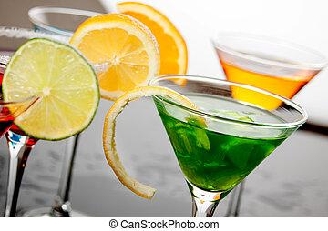 飲みなさい, 緑, カクテル