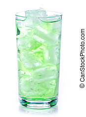 飲みなさい, 緑, 氷 立方体