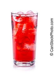 飲みなさい, 赤, 氷 立方体