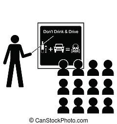 飲みなさい, 運転