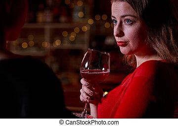 飲むこと, 女, ワイン