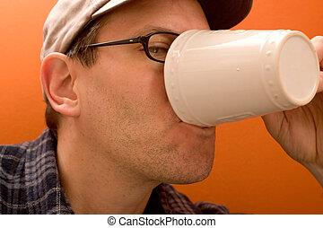 飲むこと, 1(人・つ), コーヒー, 人