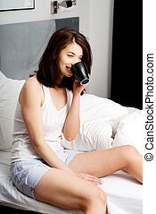飲む コーヒー, bed., 女