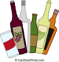 飲料の 容器, アルコール中毒患者