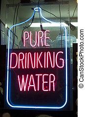 飲料水, ネオン 印