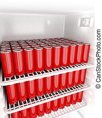 飲料, 缶, 赤