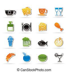 飲料, 飲料, 食物, 圖象