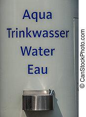 飲用水, 水龍頭, 上, 牆壁