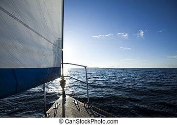 飽和させられた, 航海, カラフルである, 細部, 主題, 夏