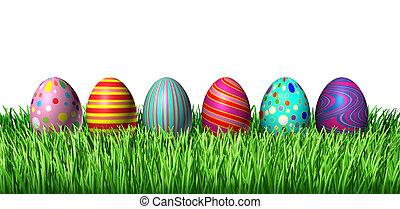 飾られた 卵