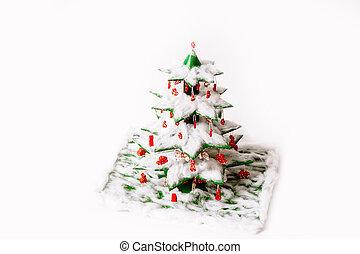 飾られる, 幼稚園, 最終的, いかに, クリスマス, おもちゃ, 有色人種, macaroni., 上, 作りなさい, 綿, ステップ, 技能, 指示, 羊毛, 光景, 作られた, 木。, トウヒ, 装飾用である, ∥あるいは∥, 学校