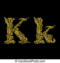 飾られる, 手紙, 'k'