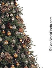 飾られる, 白, 木, クリスマス, 背景