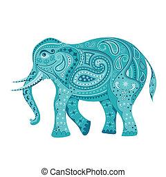 飾られる, 象