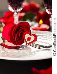 餐具, 為, 情人節