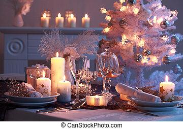 餐具, 為, 聖誕節