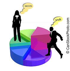 馅饼图表, 商业, 矢量